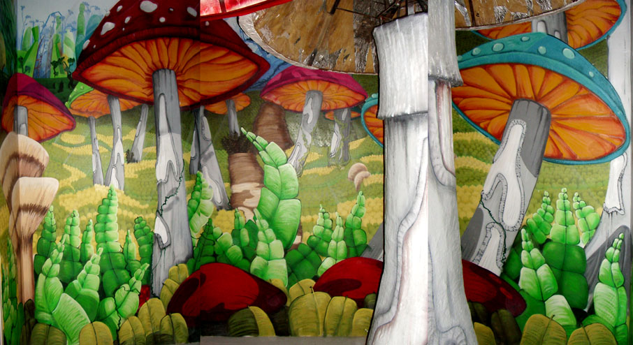 Cafeteria pudding borne graffiti e ilustracion fullet for Setas decoracion