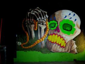 graffiti barcelona ilustracion discoteca mama mandawa calavera 3