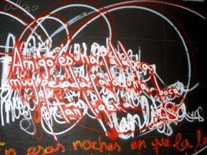 graffiti barcelona ilustracion discoteca mama mandawa poesia