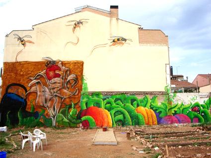 graffiti en huertos comunitarios
