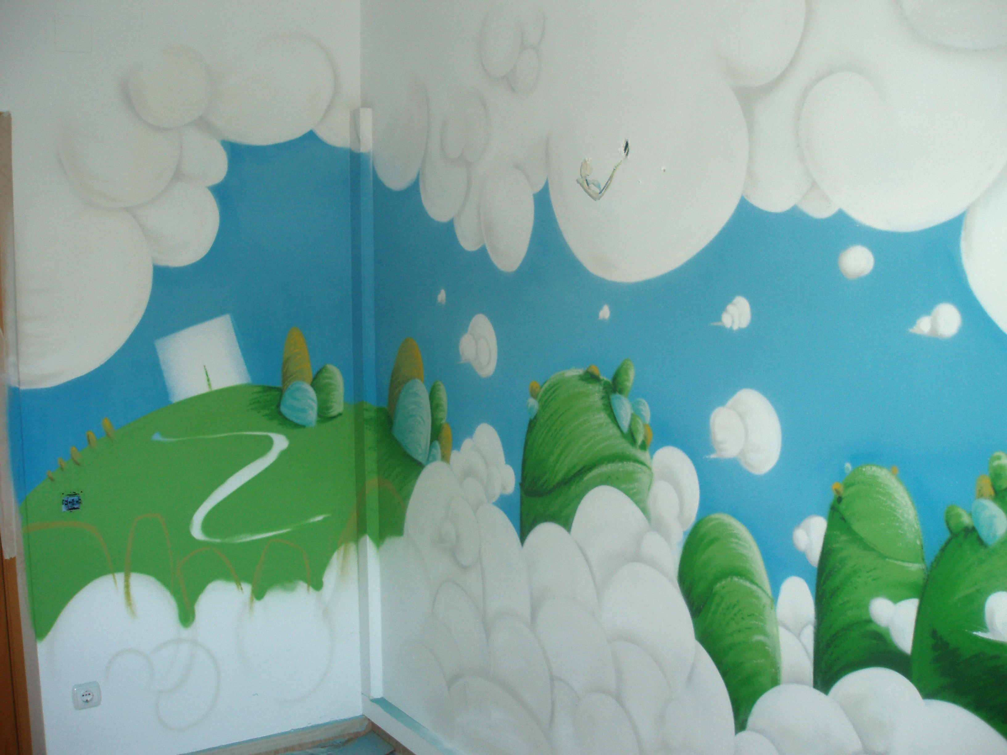 Decoracion infantil graffiti e ilustracion fullet for Decoracion de cielo