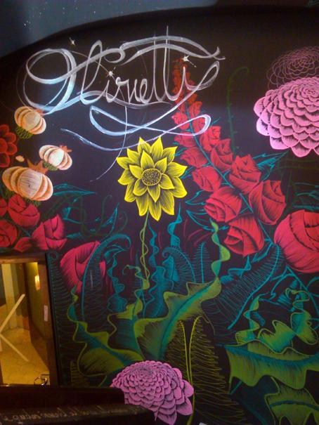 decoracion restaurante olivetti ilustracion