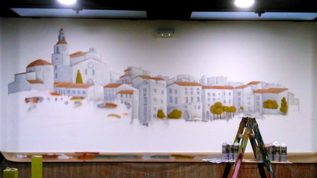 graffiti decoracion restaurante barcelona 2