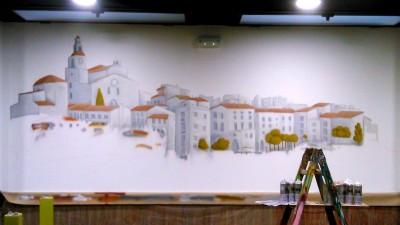 Decoración restaurante ,graffiti Cadaques