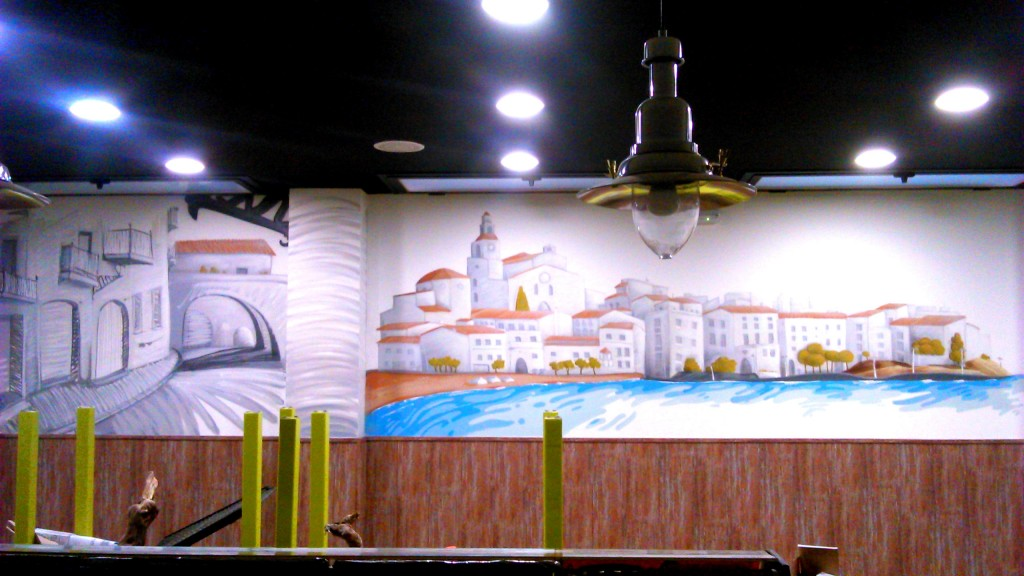 graffiti decoracion restaurante barcelona 5