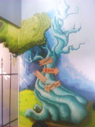 graffiti mural  Whait rabbit