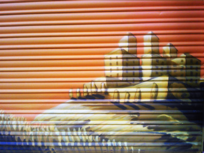 graffiti barcelona Don Quijote y Sancho panza