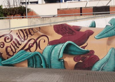 grafffiti mural in sabadell with Werens