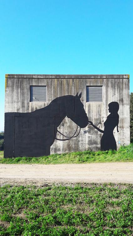 graffiti caballo