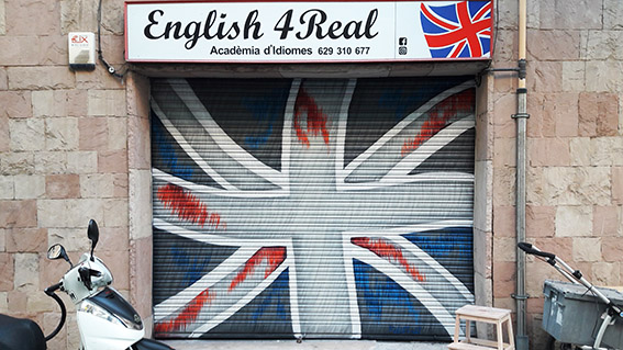 graffiti en academia de ingles