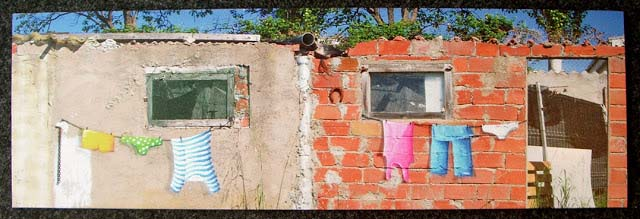 cuadro graffiti barcelona street art ropa tendida 4