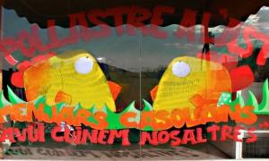 decoracion de escaparate con graffiti