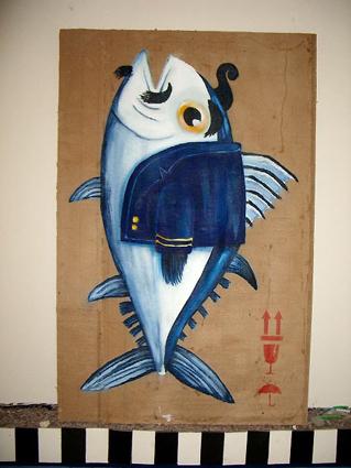 cuadro de un pez