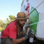 graffiti en furgoneta