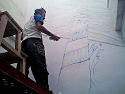 graffiti en un centro de estudios