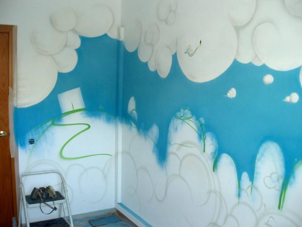 graffiti para una habitacion infantil, interior