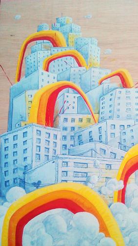 cuadro graffiti arcoiris 5