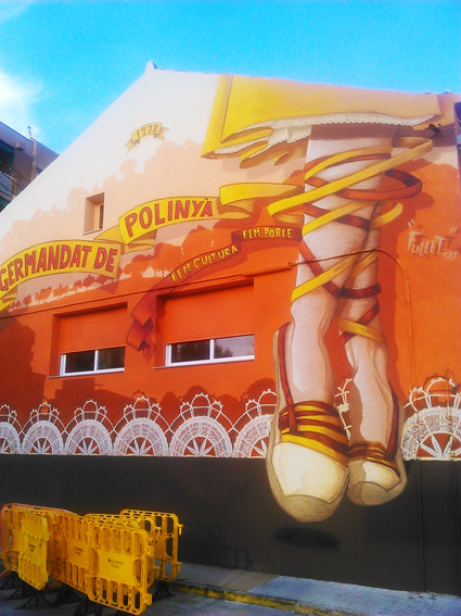 Mural , fachada Germandat.