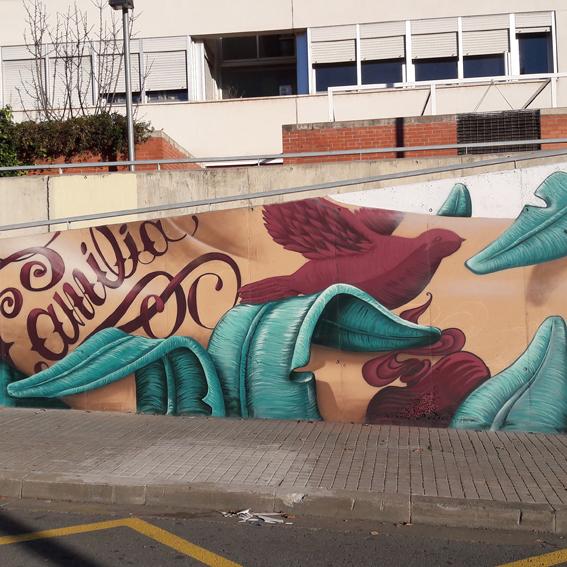 mural grafffiti en sabadell con werens